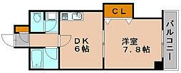 グランシャリオ竹下[2階]の間取り
