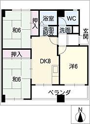 パラシオン町田[1階]の間取り