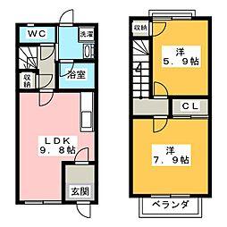 [テラスハウス] 三重県伊賀市上野福居町 の賃貸【/】の間取り