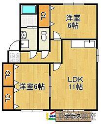 カーサ江戸屋敷[106号室]の間取り
