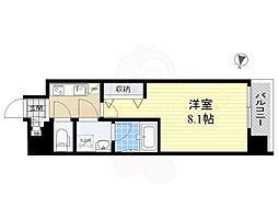 都営大江戸線 森下駅 徒歩6分の賃貸マンション 5階1Kの間取り