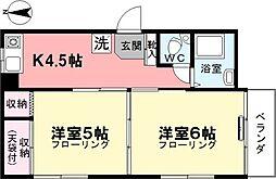 清水コーポ[3階]の間取り