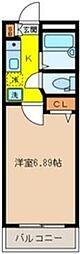 埼玉県川越市南通町の賃貸アパートの間取り
