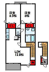 スターリースカイI[2階]の間取り
