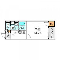 クレイノRYOGOKUYAII[1階]の間取り