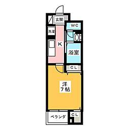 ステーション シン[4階]の間取り