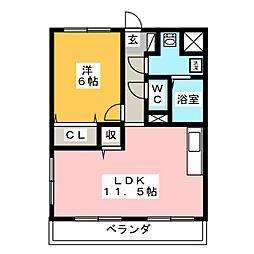 Y&M凛[2階]の間取り