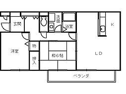 ディスターN[2階]の間取り