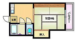 平田コーポ[3階]の間取り
