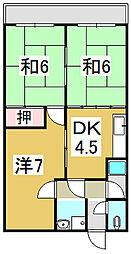 須磨マンション[2階]の間取り