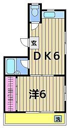 東京都葛飾区立石5丁目の賃貸マンションの間取り