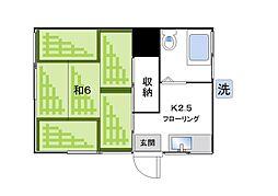 第二松栄荘[105号室]の間取り