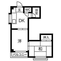ロイヤル神路II[5階]の間取り