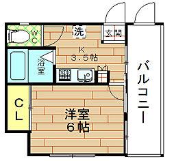 中島ビル[4階]の間取り