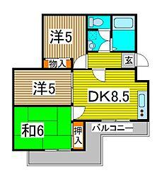 ドルミールII[2階]の間取り