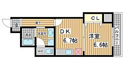兵庫県神戸市兵庫区下沢通2丁目の賃貸マンションの間取り