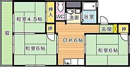 パレーシャルエル B棟[1階]の間取り