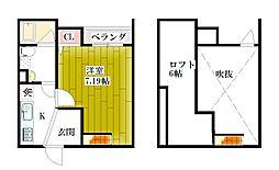 大阪府大阪市東成区東今里3丁目の賃貸アパートの間取り