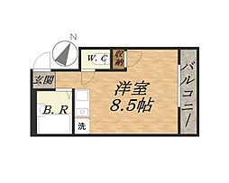 """ラムサール8t""""[3階]の間取り"""