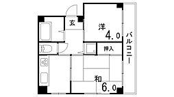 ラ・マル[3階]の間取り