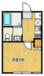 千葉県船橋市薬円台4丁目の賃貸アパートの間取り