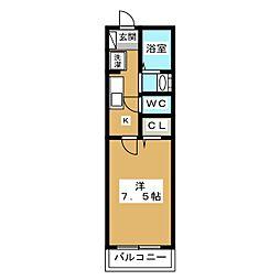 エミネンス西京極[1階]の間取り