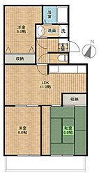 第三葵マンション[2階]の間取り