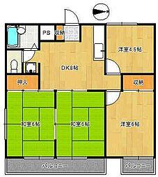 赤塚グリーンハウス[2階]の間取り