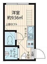 QUQURI IKEBUKURO 地下1階ワンルームの間取り