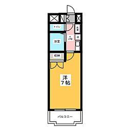 ハイツ亀島[2階]の間取り