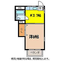 中央マンション[3階]の間取り