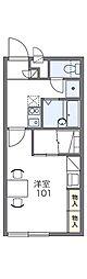 レオパレスTERADA165[2階]の間取り