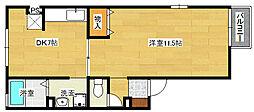 広島県広島市南区宇品東1丁目の賃貸アパートの間取り
