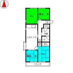 関谷ハイツ[2階]の間取り