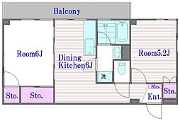 板橋ハイツウイスタリア[2階]の間取り