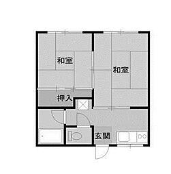 カーサ南台[2階]の間取り