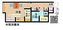 東京都町田市忠生1丁目の賃貸アパートの間取り