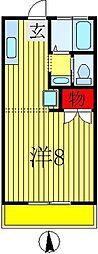 セントヒルズ五香A[203号室]の間取り