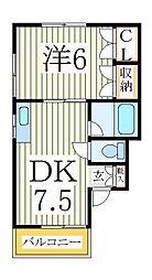 ストークハイツSK[1階]の間取り