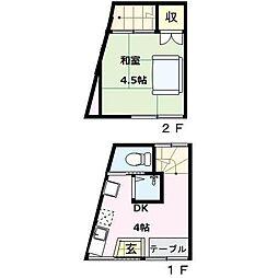 [一戸建] 東京都荒川区荒川6丁目 の賃貸【東京都 / 荒川区】の間取り