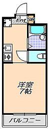 兵庫県神戸市灘区岩屋北町7丁目の賃貸アパートの間取り