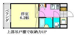 ラ・コート・ドール津田沼[212号室]の間取り