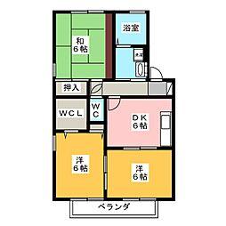 パストラルA[2階]の間取り