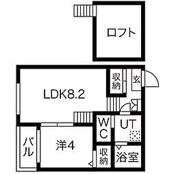 (仮称)辰巳町(3)コーポ[2階]の間取り