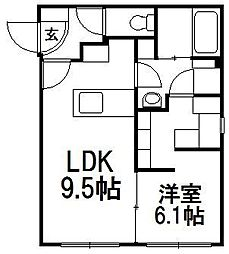COMSAP24 PARKSIDE[3階]の間取り