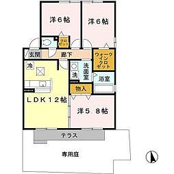 Vivace江井島A棟[2階]の間取り