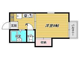 兵庫県神戸市垂水区星陵台5丁目の賃貸アパートの間取り