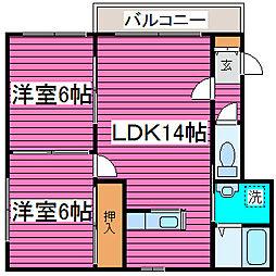 北海道札幌市東区北四十二条東5丁目の賃貸マンションの間取り