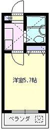 レジデンス山田D[6号室号室]の間取り