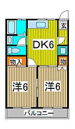 メゾン小泉南浦和第2[3階]の間取り